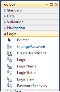 ASP.NET controls associated with the membership provider