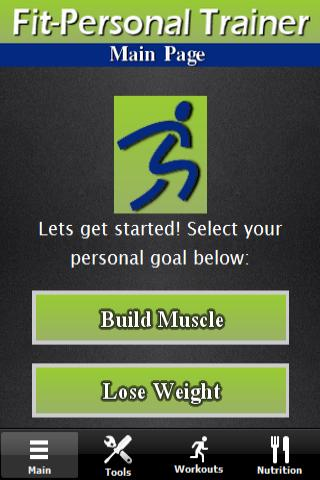 Personal Trainer Fitness App