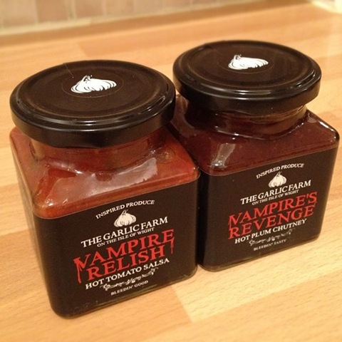 #107 - spicy Vampire condiments from The Garlic Farm