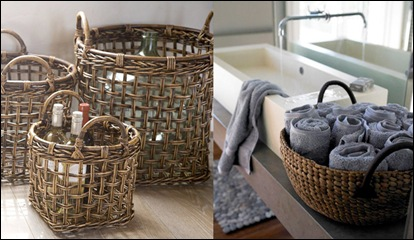 baskets in decor