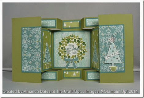 All is Calm, Double Display Card, Festival of Trees, Wonderful Wreath, by Amanda Bates, The Craft Spa (1)