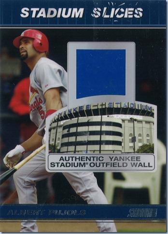 2008 Stadium Club Pujols Yankee  Wall