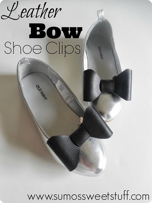 Leather Bow Shoe Clips at SumosSweetStuff.com #explorecricut