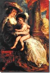 Rubens - Hélène Fourment com seu filho