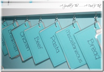 Recipe Cards {A Sprinkle of This . . . . A Dash of That}