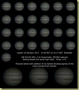 14 January 2012 Jupiter sequence