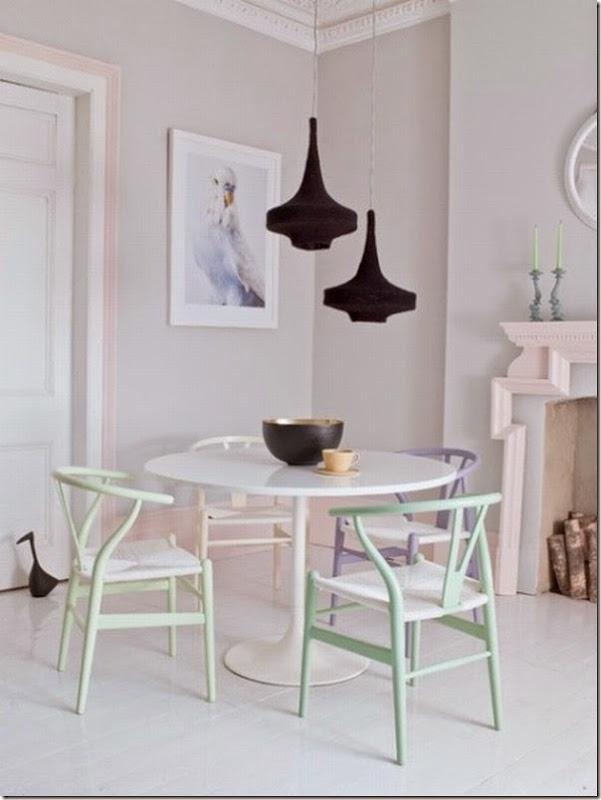 Una casa dai colori pastello case e interni - Dipingere casa colori ...