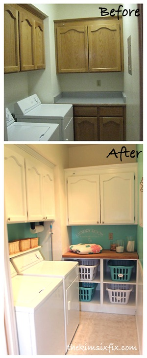 laundry room before and after flashback friday the kim. Black Bedroom Furniture Sets. Home Design Ideas