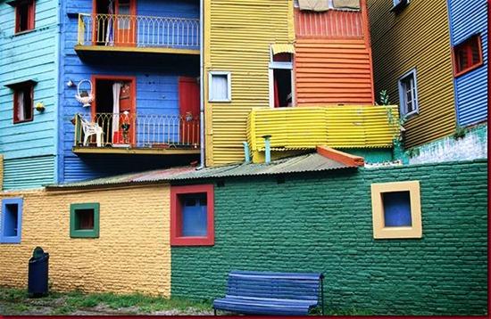 Rumah Warna-warni di La Boca, Argentina