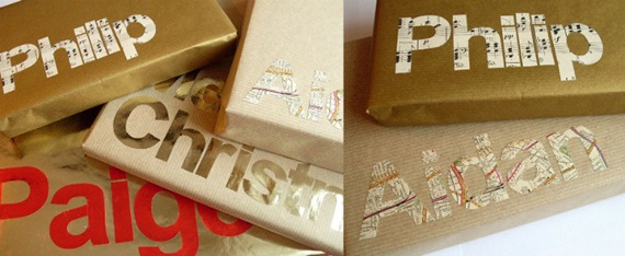 Caixa de presente: Recortes de papéis