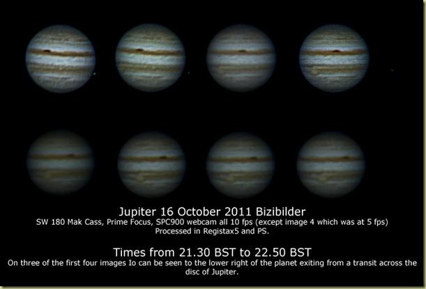 15 October 2011 Jupiter Sequence
