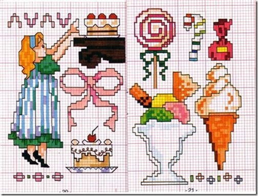 Ponto Cruz-Cross Stitch-Punto Cruz-Punto Croce-Point de Croix-412