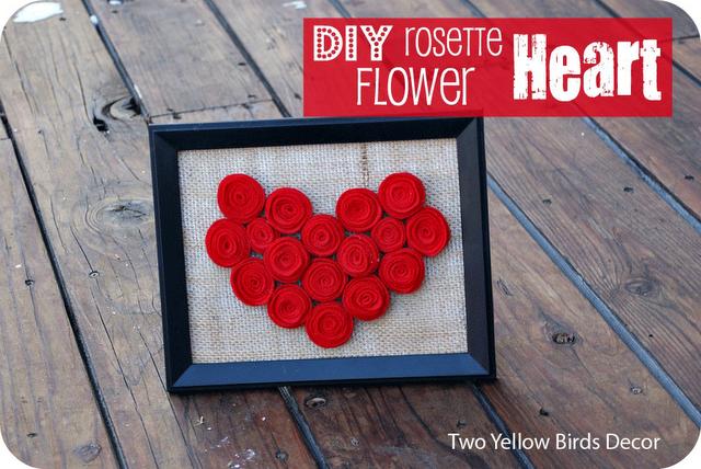 rosette heart frame