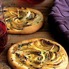 Caramelized-Onion Flatbreads with Crème Fraîche