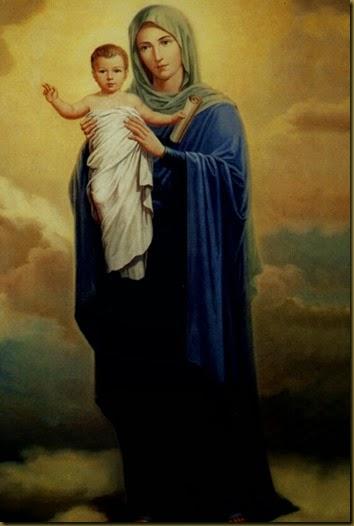 MARIA VIRGEN Y NIÑO DIOS