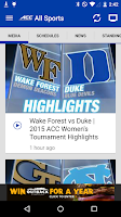 Screenshot of ACC Sports