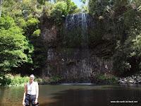 Erfrischung an den Milla Milla Falls (etwas ausgetrocknet...)