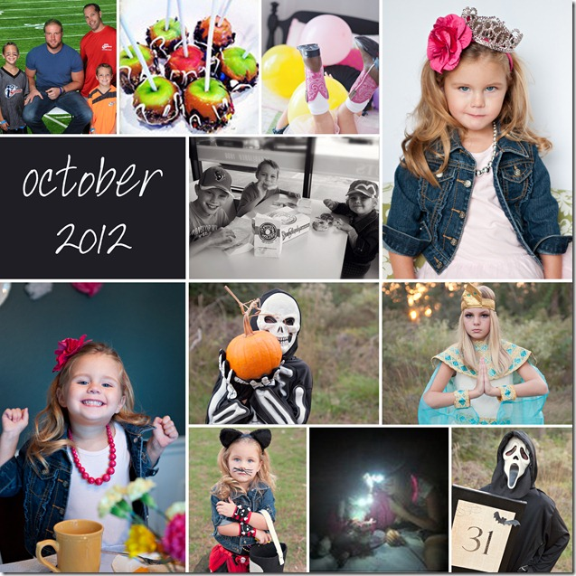 October Collage - 2012