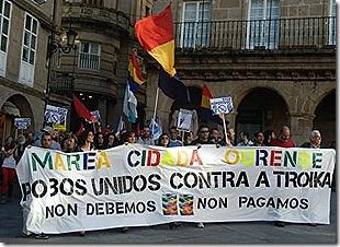 Galiza - Manifestação Internacional contra a troika. Jun. 2013