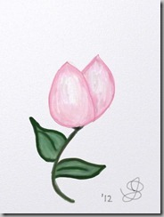 Tulip drawn on iPad
