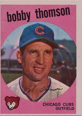 1959 Topps 429 Bobby Thomson 2