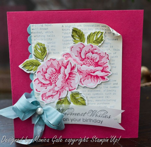 Stippled Blossoms, Stampin'Up! close