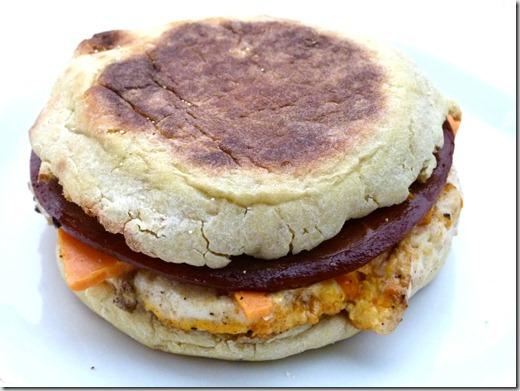 vegan ham tofu egg and cheese