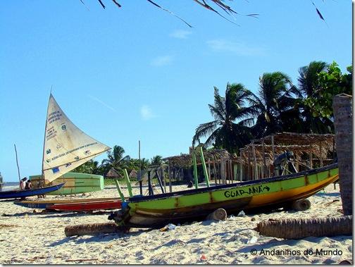 Praia de Ilha de Croa Perto da Praia do Carro Quebrado Alagoas