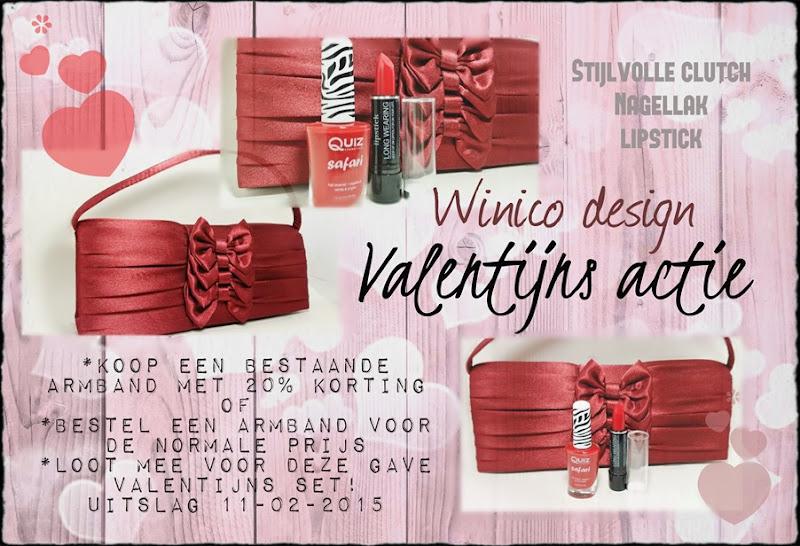 winico design valentijns actie clutch nagellak lipstick rood facebook
