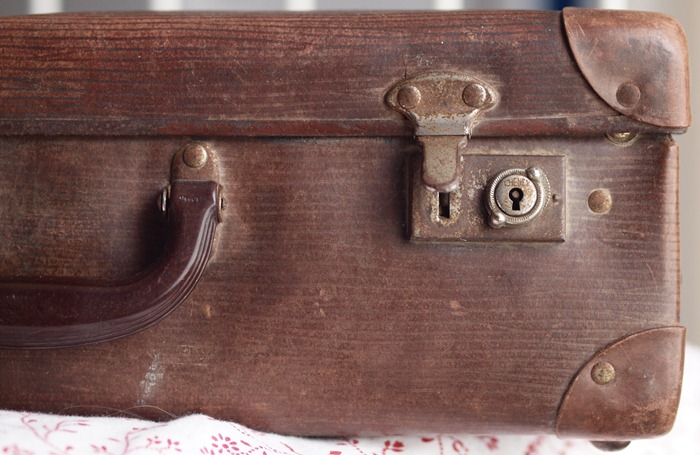 a brown case