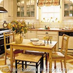 Декор пола кухни своими руками
