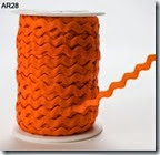 may arts qtr inch orange ricrac ribbon