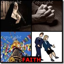 FAITH- 4 Pics 1 Word Answers 3 Letters