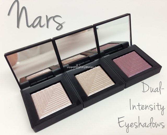 Nars Dual-Intensity Eyeshadows in Callisto, Dune and Phoebe