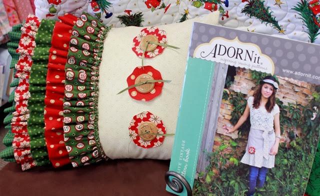 Cute ruffled Christmas Pillow