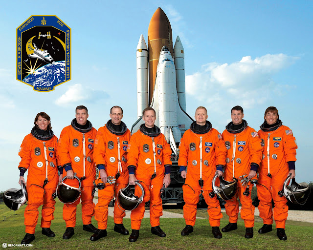 the STS-126 space shuttle crew who I saw getting launched into space to deliver the next payload to the international space station in Cape Canaveral, Florida, United States