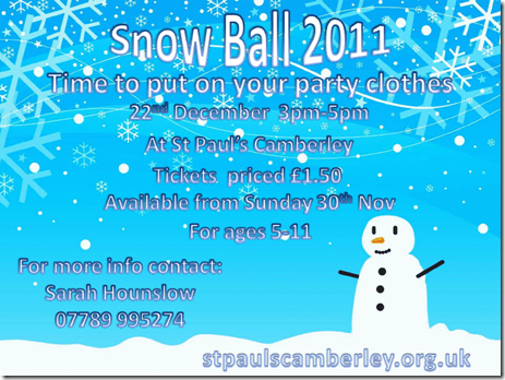 St Pauls Snow Ball