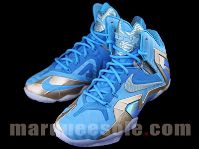nike lebron 11 ps elite blue 3m 1 06 Nike LeBron 11 Elite Blue Stripe 3M