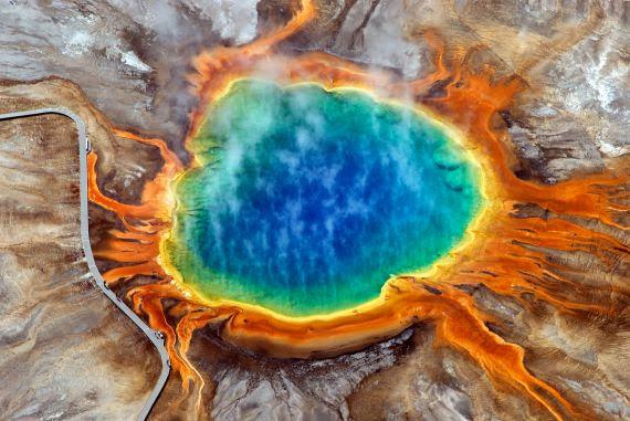 3%252520%2525281%252529 صور ينبوع المياة الحارة متعددة الالوان في Yellowstone National Park