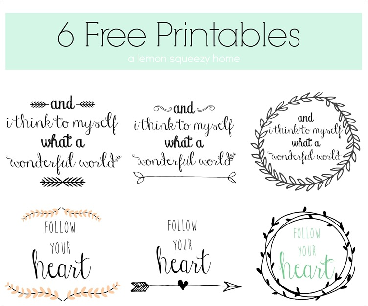 Printables (Lemon Squeezy Home)