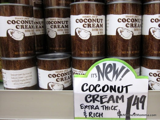 Spotted:  Coconut Cream at Trader Joe's