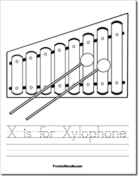 Xylophone Coloring Page Another Great From Twisty Noodle My Favorite Part Is That You Can Customize The Text Just Click Image Above