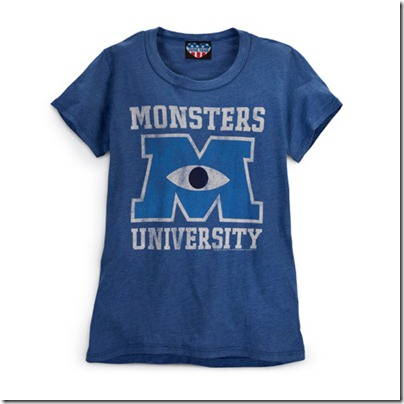 Monster University Official Clothing - Blue Vintage Tee Shirt Women