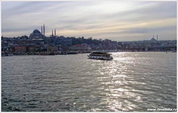 Стамбул. Закат с Галатского моста.