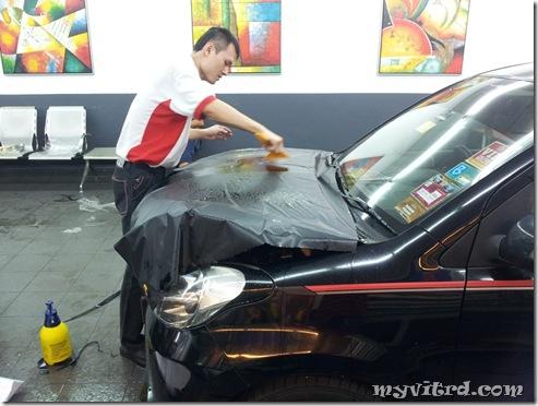 install sticker carbon fiber 6