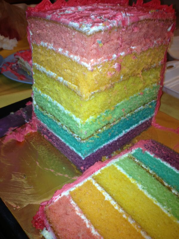 pastel colors cake