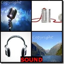 SOUND- 4 Pics 1 Word Answers 3 Letters