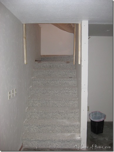 sheet rock stairs
