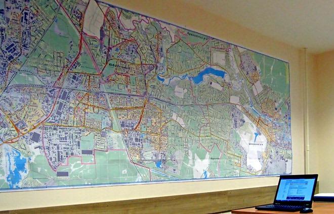 карта в офисе геоКоролёв