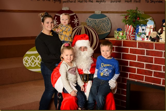 Santa pictures at ward party